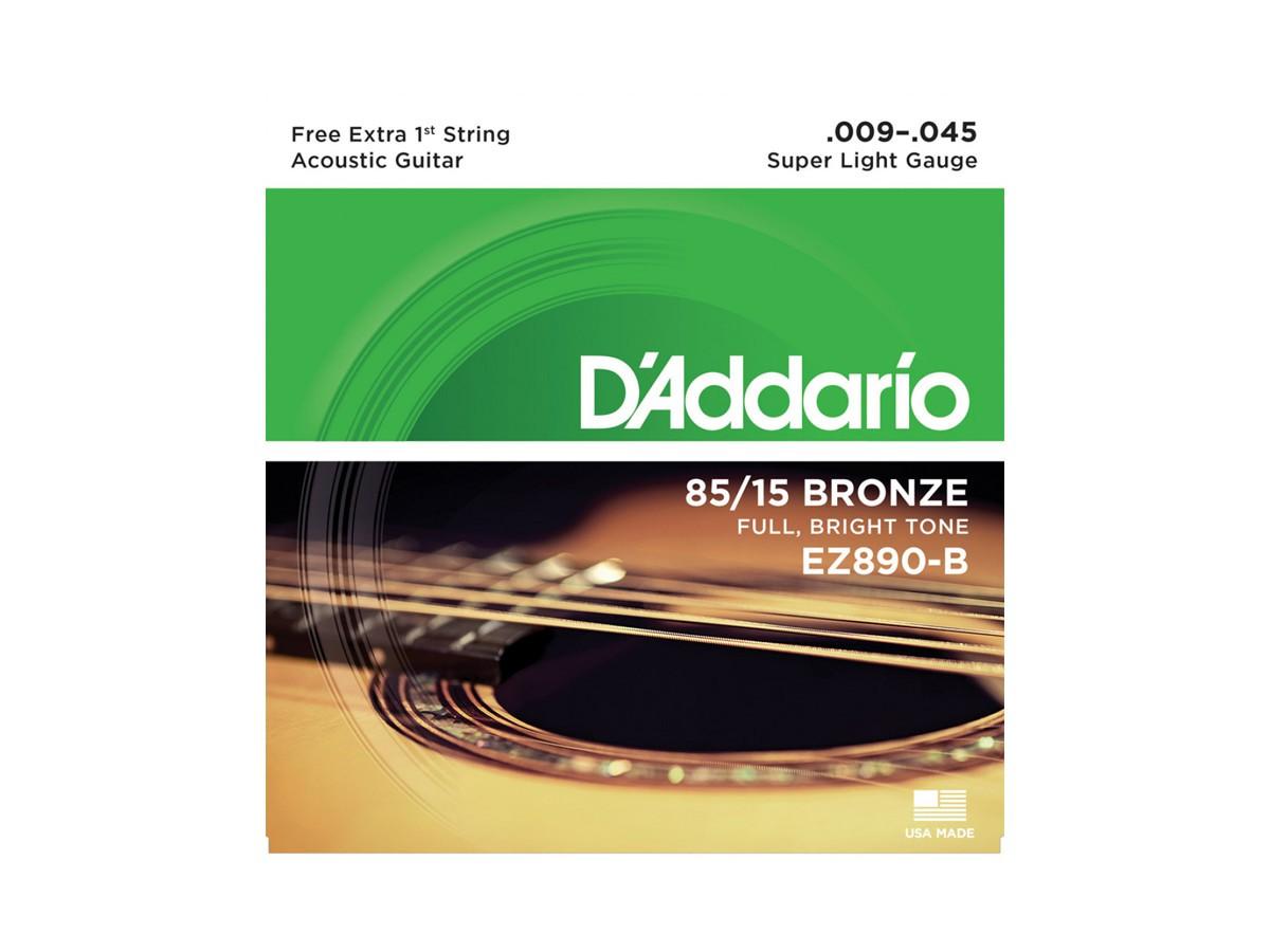 Corda / Encordoamento Violão Aço D'Addario .009 EZ890-B 09 - 045