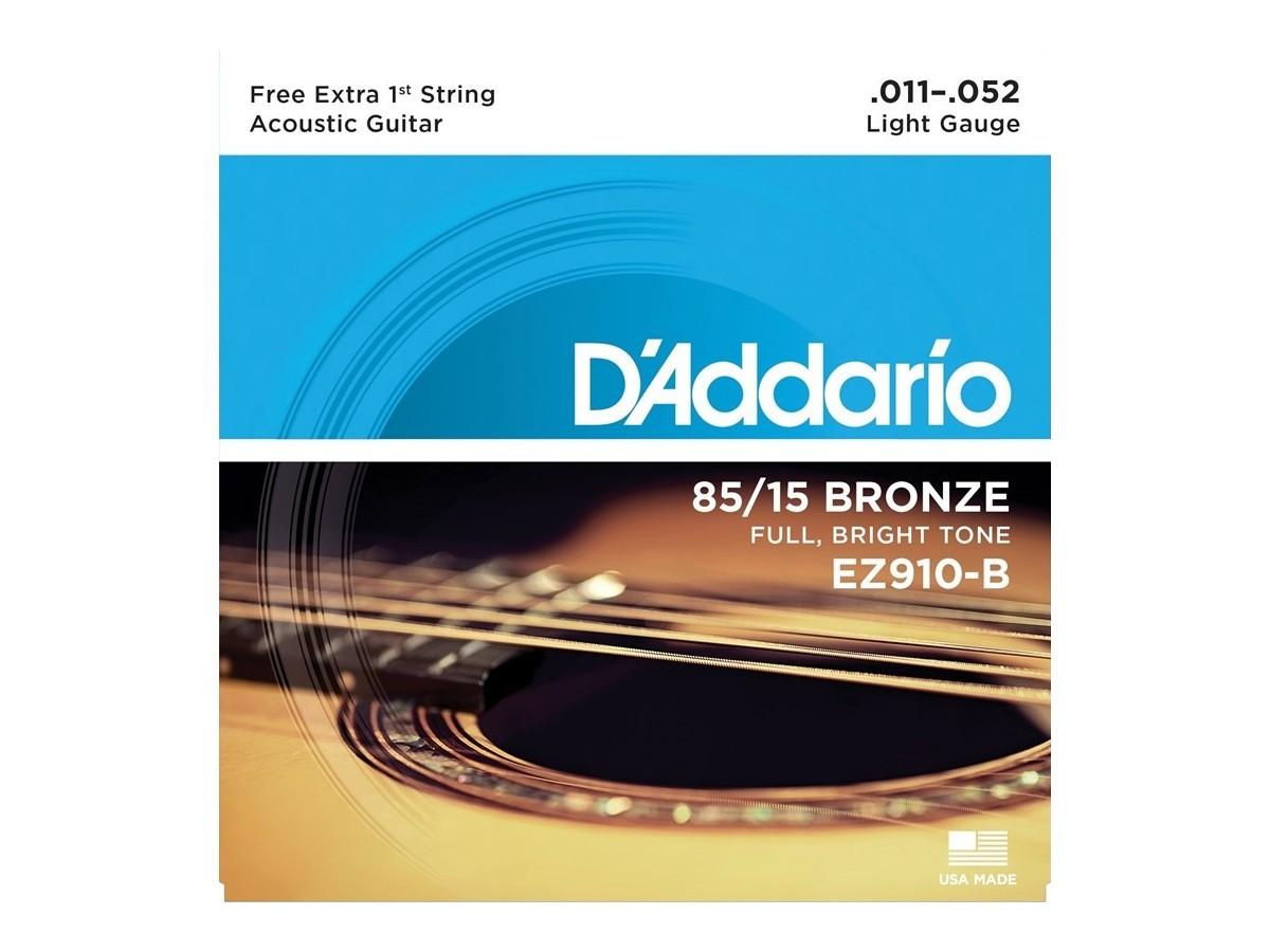 Corda / Encordoamento Violão Aço D'Addario .011 EZ910-B