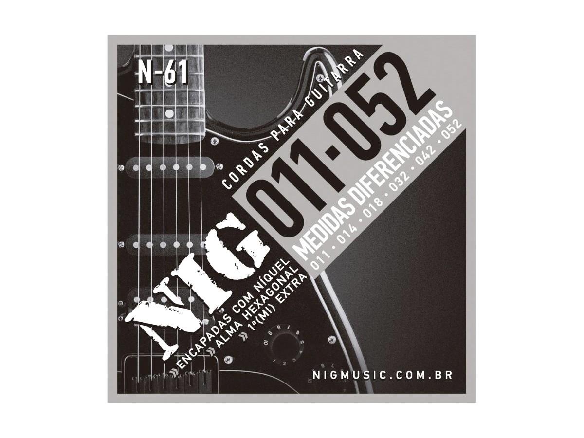 Cordas / Encordoamento Nig N61 Guitarra - .011 - .052