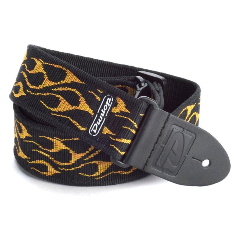 Correia p/ Guitarra, Baixo e Violão Flambe Amarela Dunlop