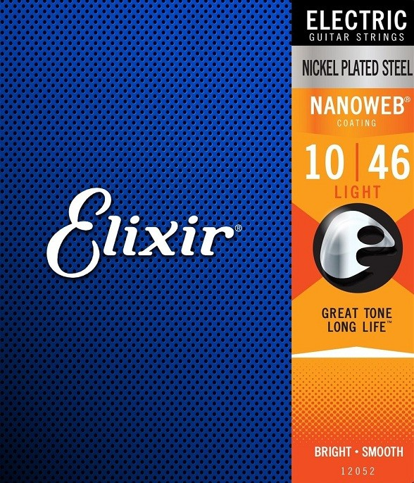 Corda / Encordoamento Elixir Guitar Nickel Plated Steel Nanoweb 10/46 Light