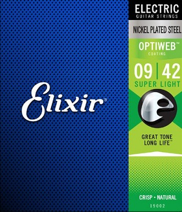 Encordoamento Elixir Guitar Optiweb 09/42 Super Light