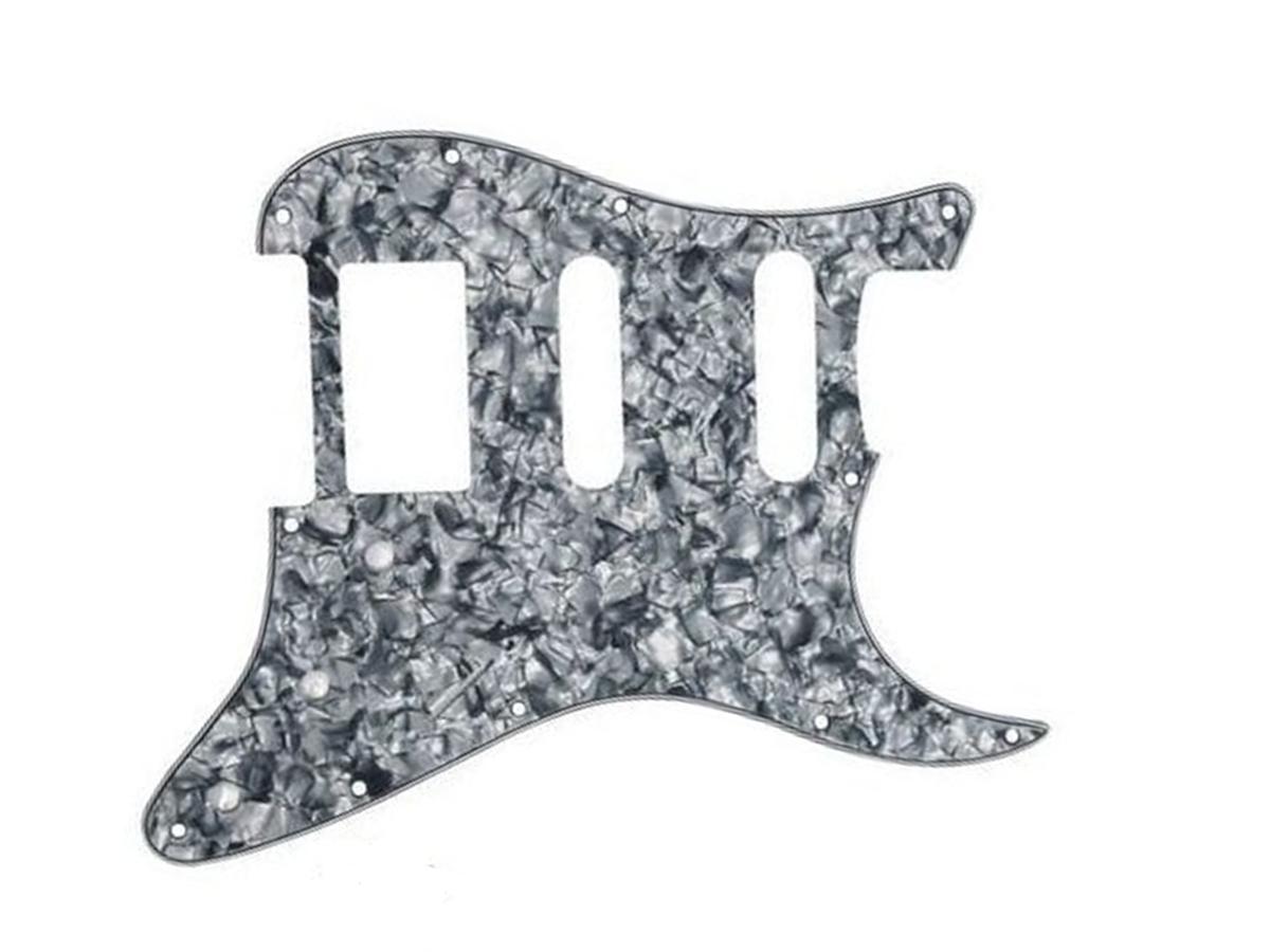 Escudo p/ Guitarra 3 Knobs HSS - sanduich  Tortoise cinza