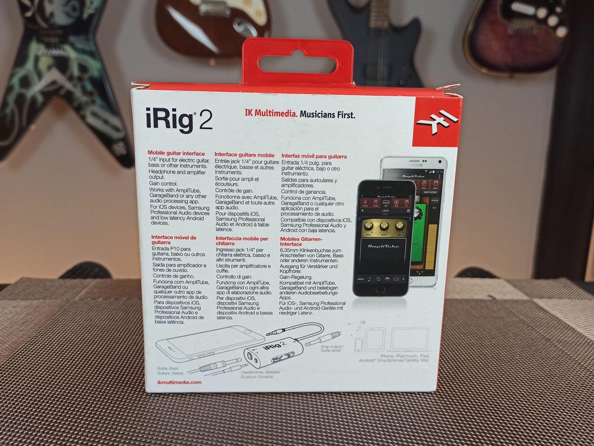 Interface Portátil Ik Multimedia Irig 2 Para Guitarra - Usada