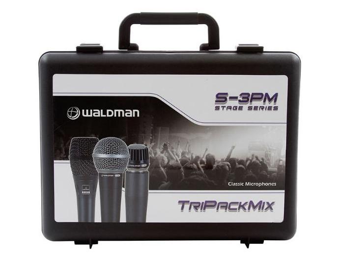 Kit C/ 3 Microfones Waldman S-3pm com S-580 / S-570 / S-870