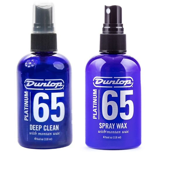 Kit Dunlop Limpador Profundo 65 Platinum Spray Wax, Deep Clean E Flanela