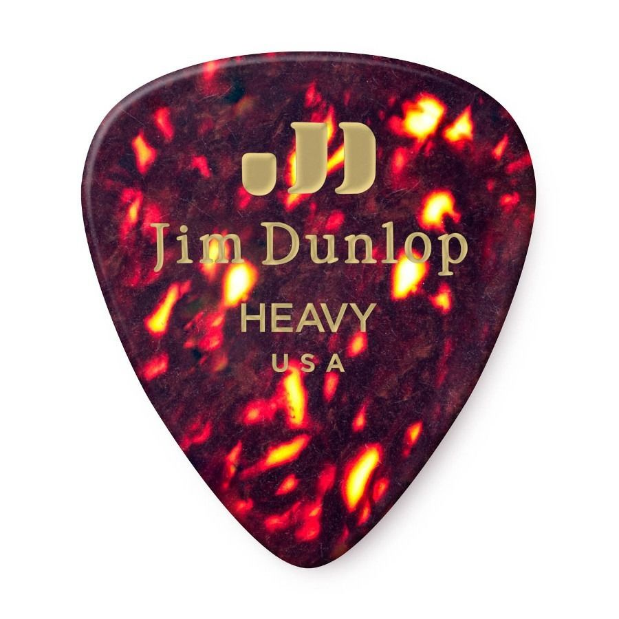 Palheta Jim Dunlop Tortoise Shell Classics Heavy 0,96 mm - kit com 6