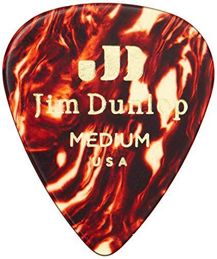 Palheta Jim Dunlop Tortoise Shell Classics Medium 0,73 mm - kit com 6
