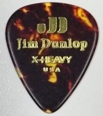 Palheta Jim Dunlop Tortoise Shell Classics X-Heavy kit com 6