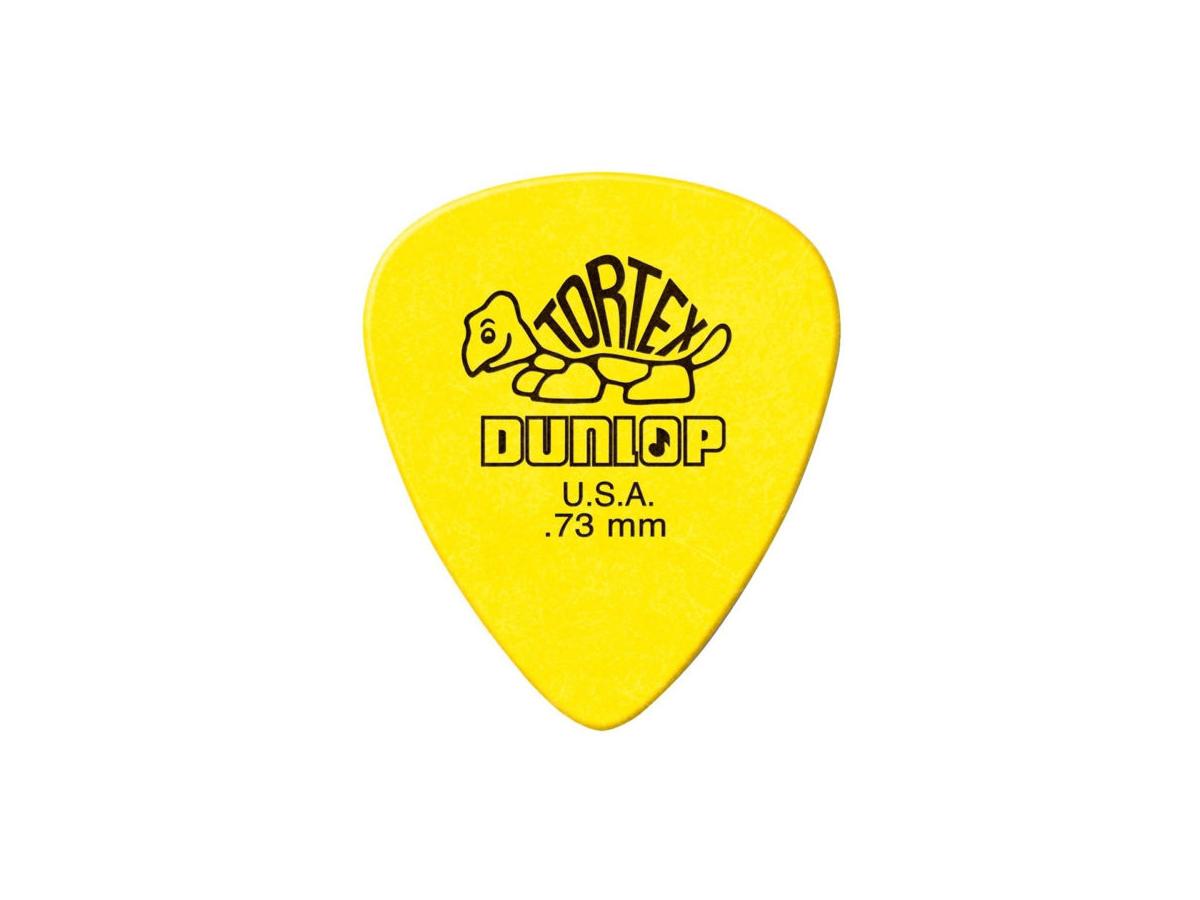 Palheta Tortex 0,73 Mm Dunlop - Kit C/ 6 Un Amarela