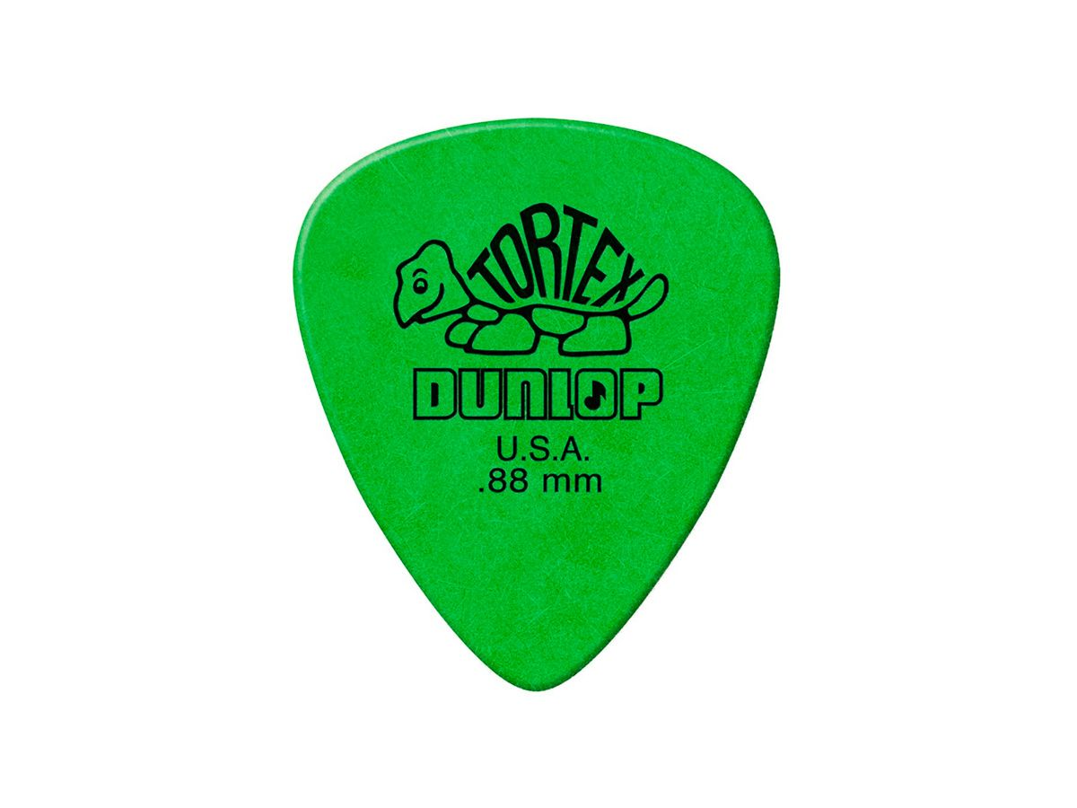 Palheta Tortex 0,88 Mm Dunlop - Kit C/ 6 Un Verde