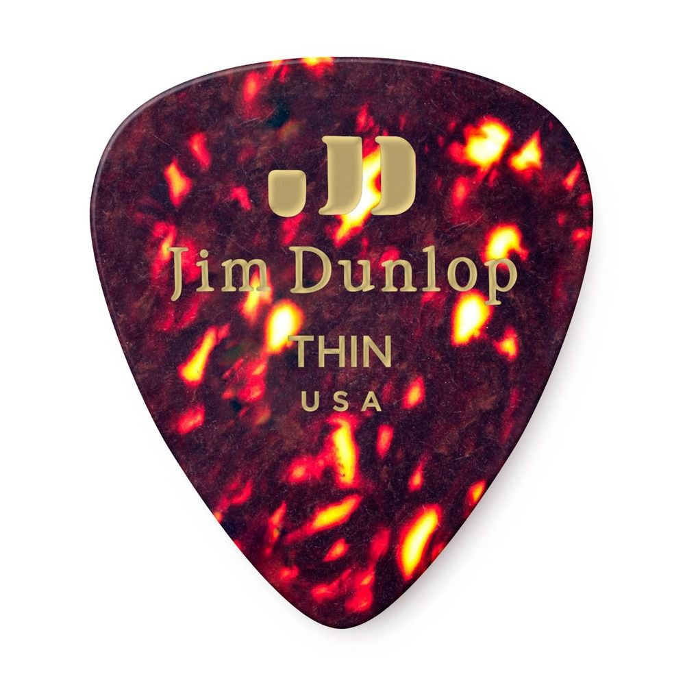 Palheta Jim Dunlop Tortoise Shell Classics Thin 0,46 mm - kit com 6