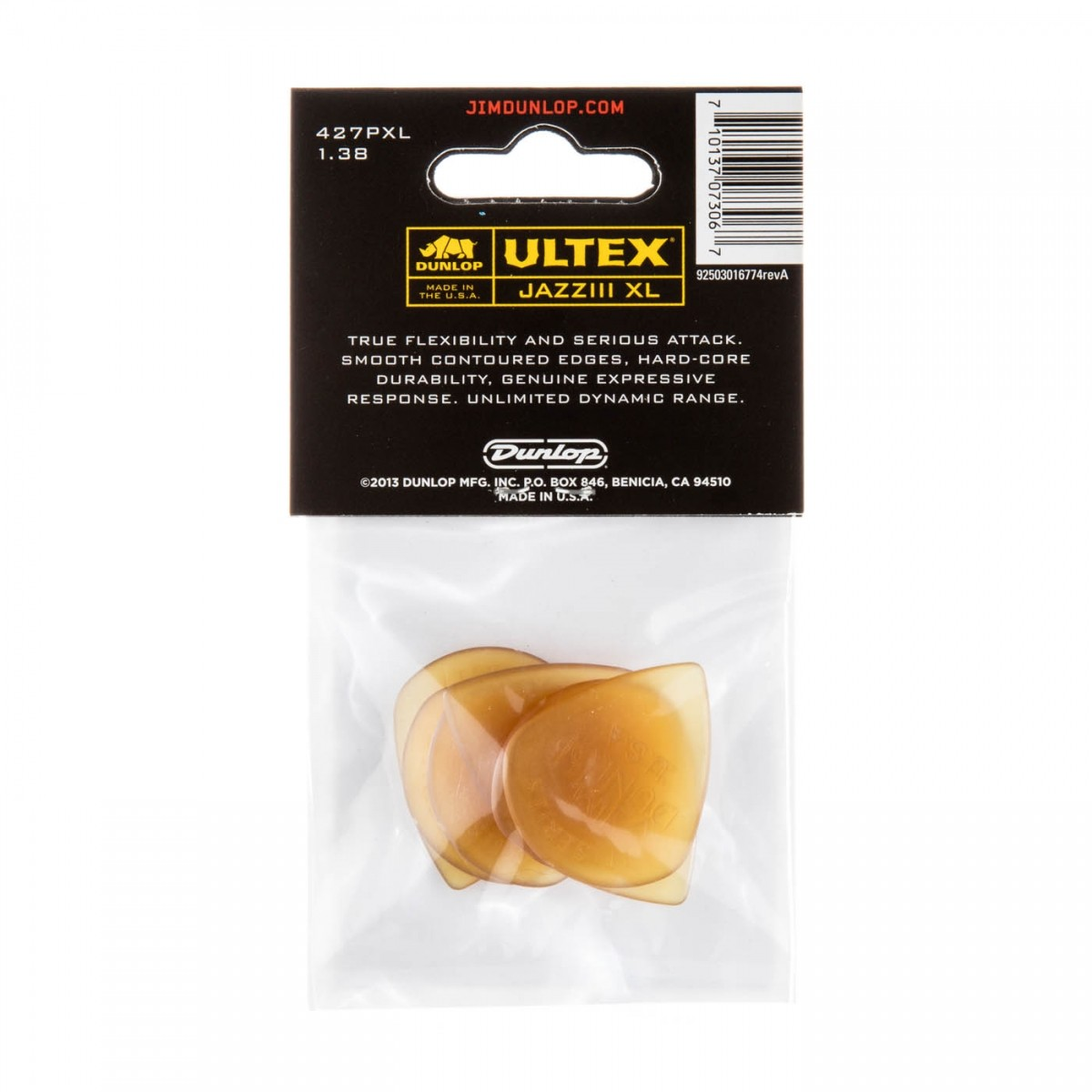 Palheta Ultex Jazz III XL 1.38 mm - kit com 6 palhetas- Dunlop