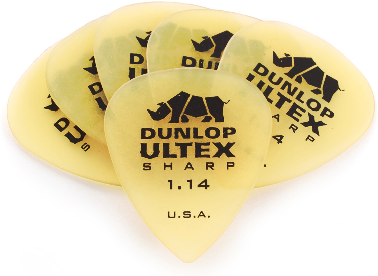 Palheta Ultex Sharp 1.14 mm Dunlop - kit com 6