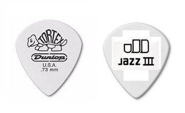 Palhetas Tortex Jazz Iii 0.73 Mm Branca- kit com 6 - Dunlop