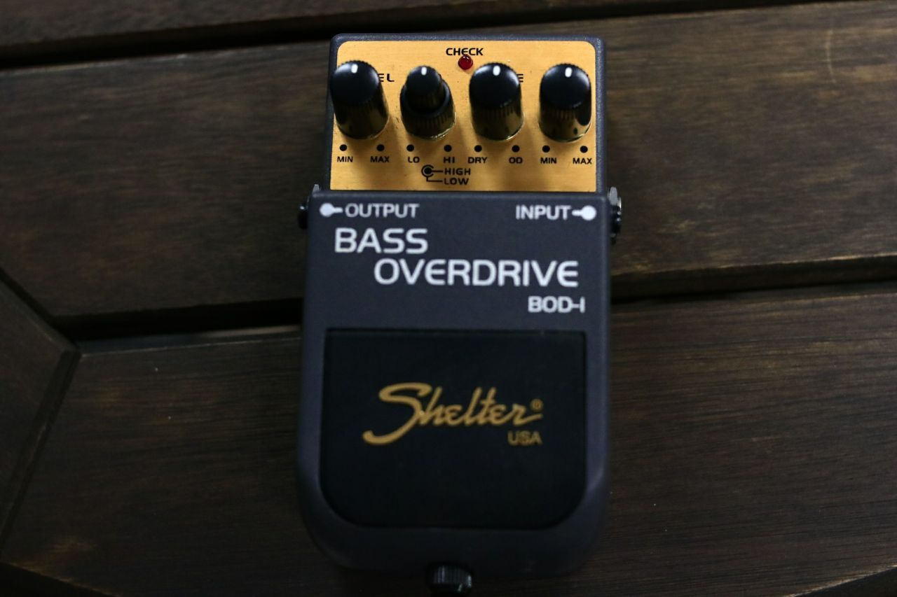 Pedal Bass Overdrive Shelter BOD-I USADO