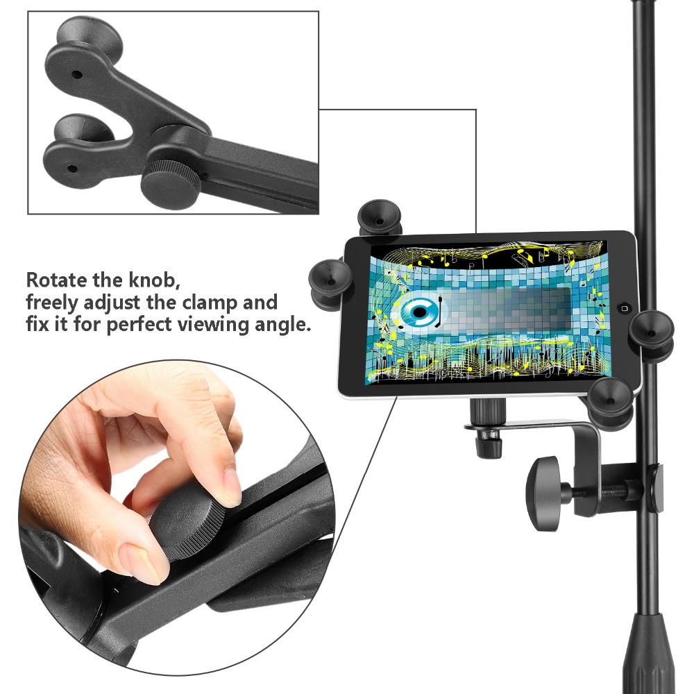 Suporte de Tablet, Celular, Ipad para Pedestal de Microfone