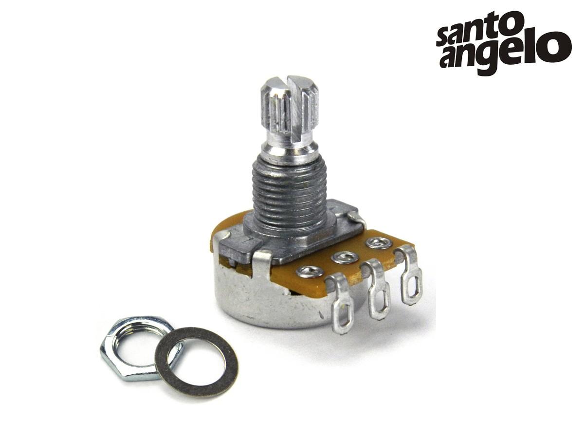 Potenciômetro A500K Santo Angelo base Peq Eixo Curto Volume Guitarra e Baixo