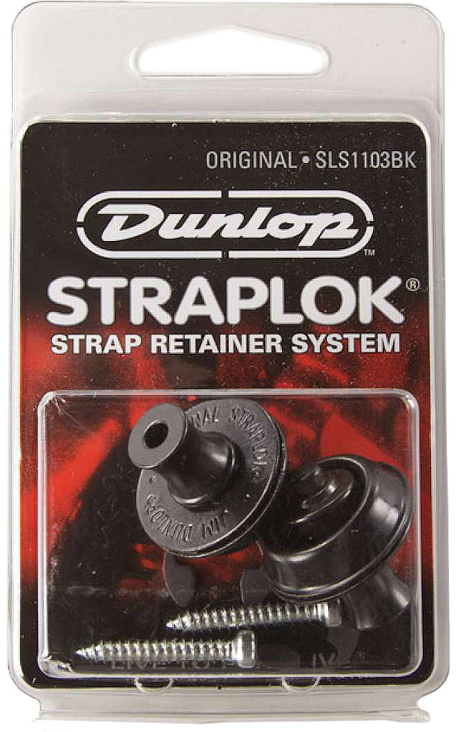 Roldana Strap Lock Original Dunlop Preta - SLS1103BK