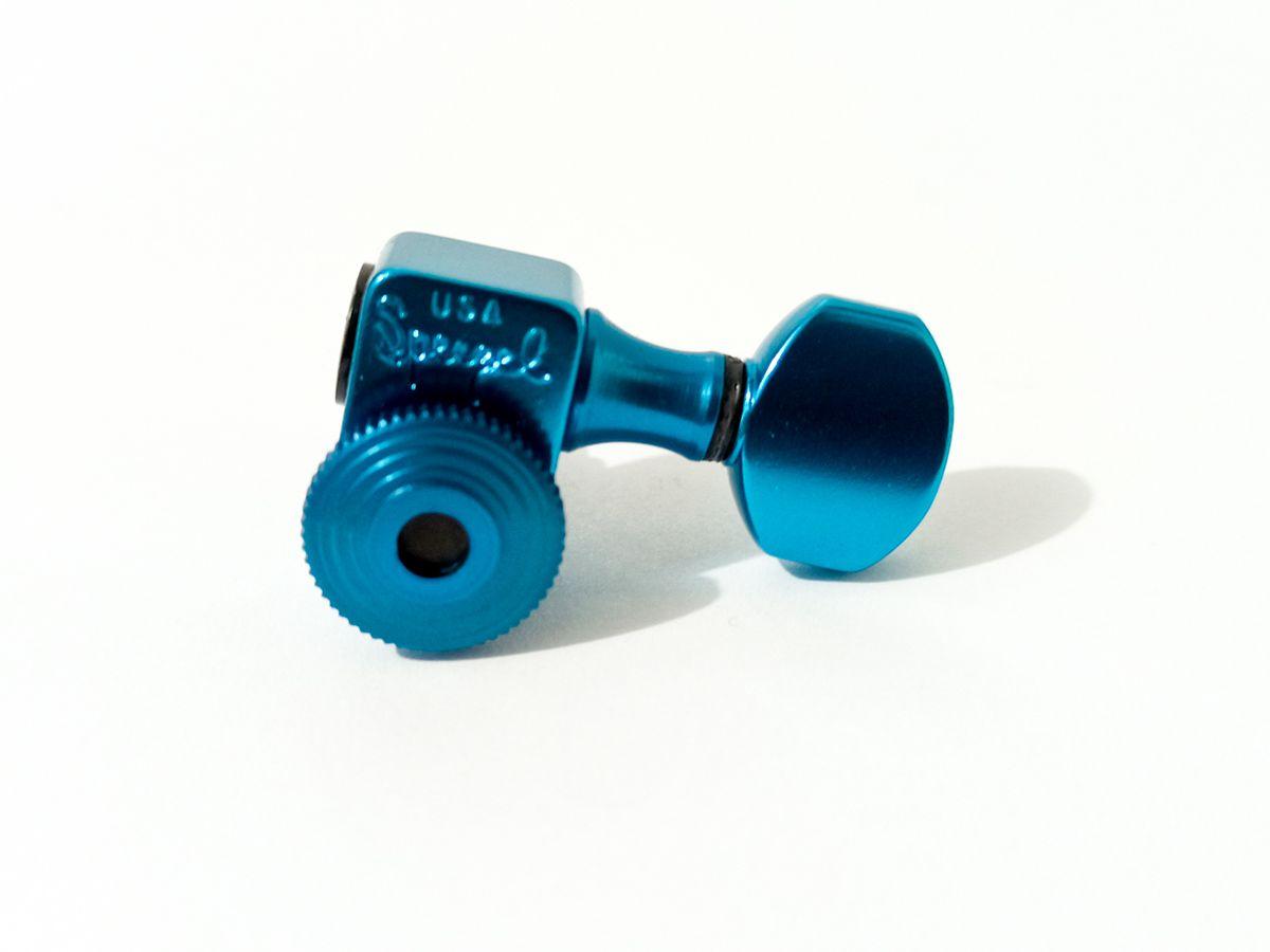 Tarraxa c/ Trava Sperzel p/ Guitarra - 6 LINE Linha 6L T/L - Blue - Azul