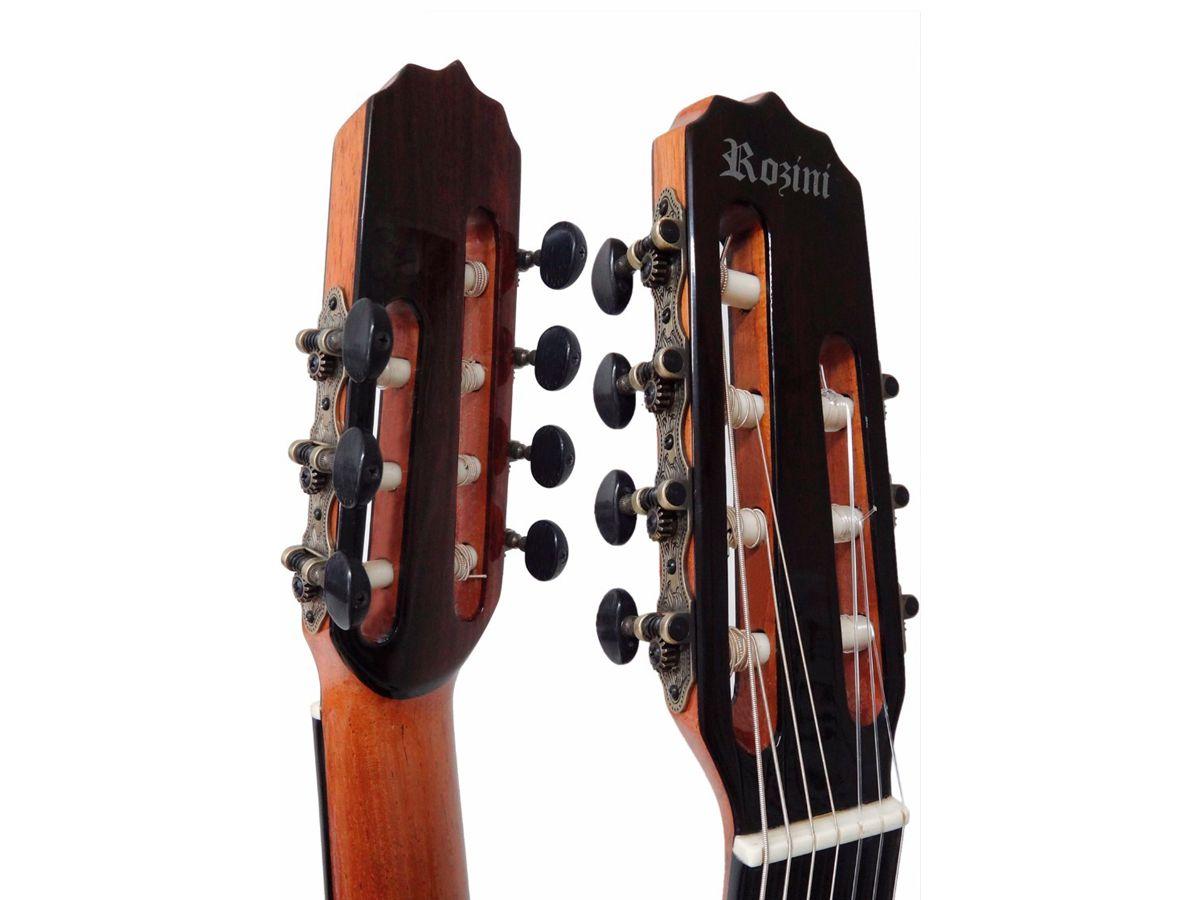 Violao Rozini 7 Cordas Nylon Concertista Rx207 = Rx217 C/ Case
