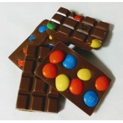 Barra de Chocolate Belga Com m&ms