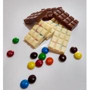 Barra de Chocolate Nacional Com m&ms