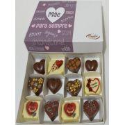 Caixa bombom dia das mães - 12 unids - Chocolate Belga