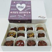 Caixa bombom DIET dia das mães - 12 unids - Chocolate Belga