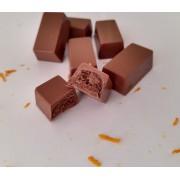 Diet - Mini Barrinhas de Chocolate Ao Leite Trufada  C/ toque de laranja