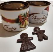 Lata de Natal Com Chocolate Belga