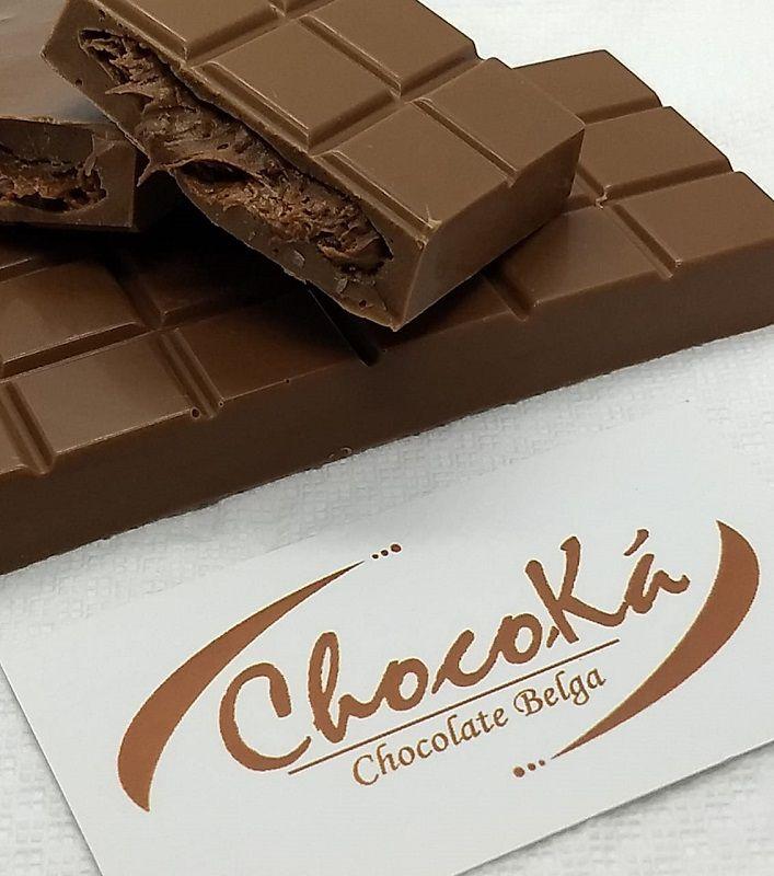 Barra de Chocolate Belga Recheada Ovomaltine