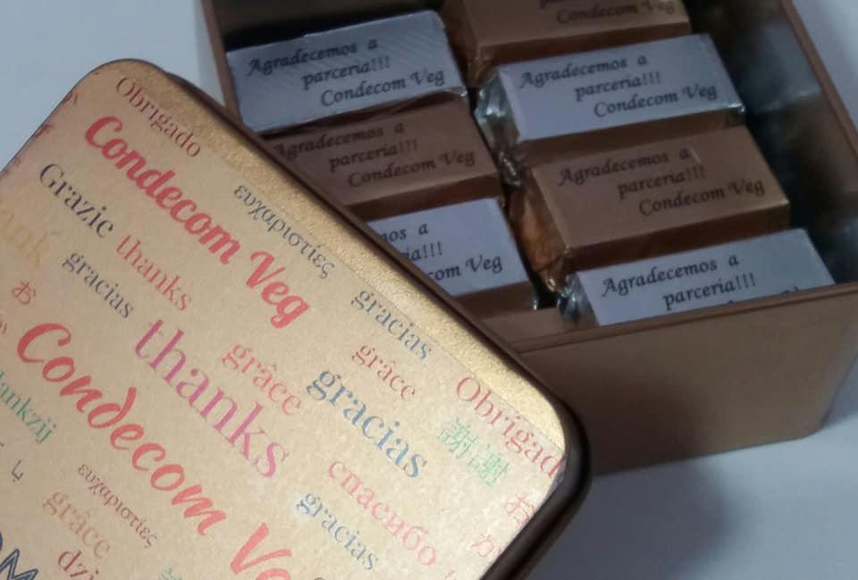 Brinde Personalizado Com Chocolate Belga