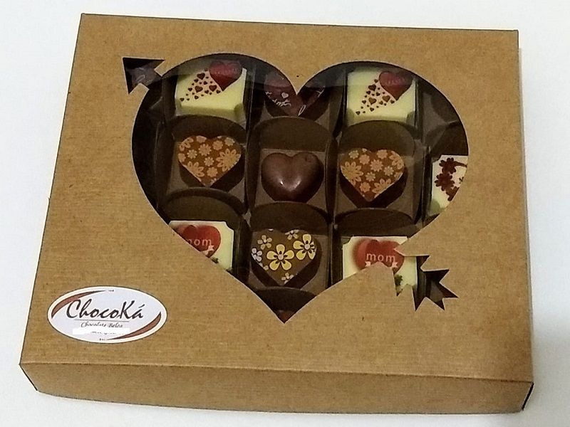 Caixa bombom dia das mães - 20 unids - Chocolate Belga