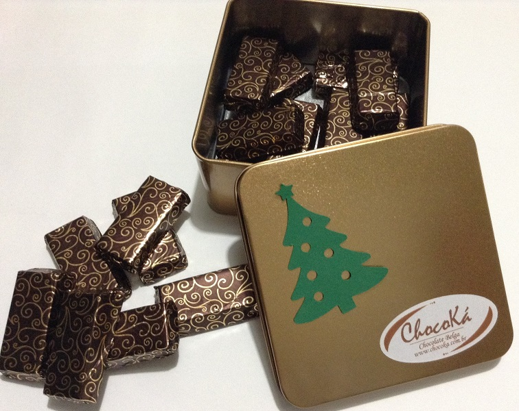 Natal - Barrinhas de Chocolate Belga Ao Leite