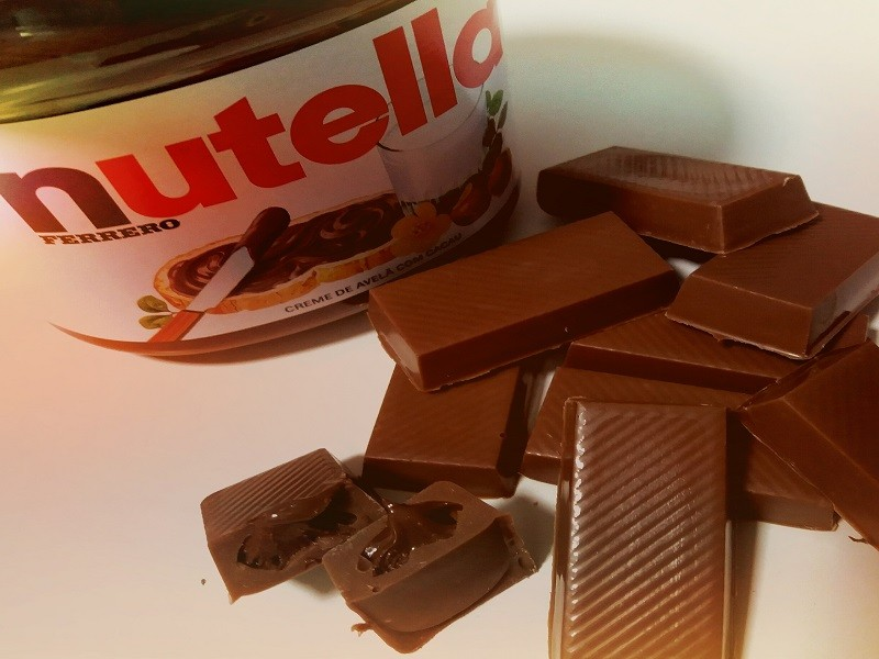 Chocolate com Nutella - barrinhas