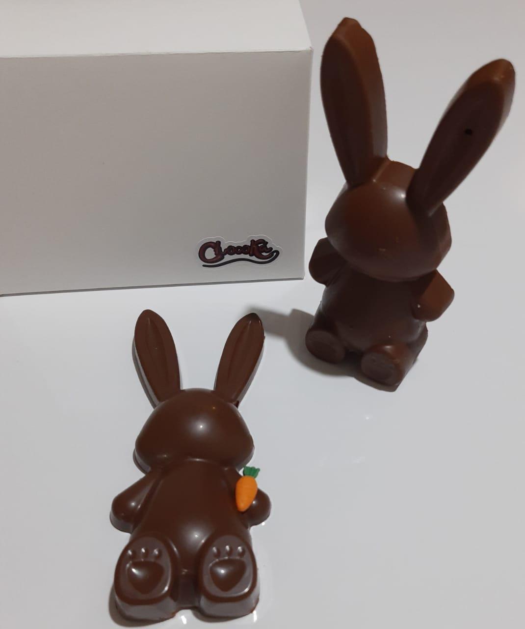 Coelho de Chocolate Recheado  - Chocolate Belga