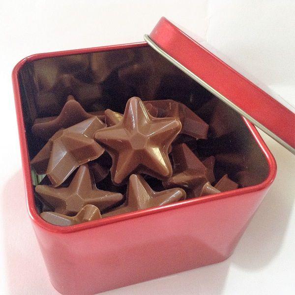 Estrelinhas de Chocolate Belga Ao Leite