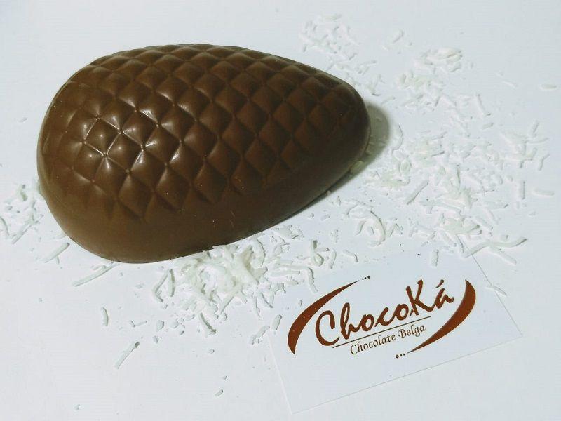 Ovo de Páscoa 400 grs  Recheado - Chocolate Belga