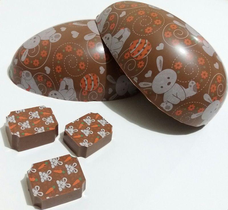 Ovo de Páscoa Decorado Chocolate Belga
