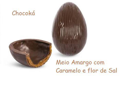 Ovo de Páscoa Meio Amargo com caramelo e flor de sal