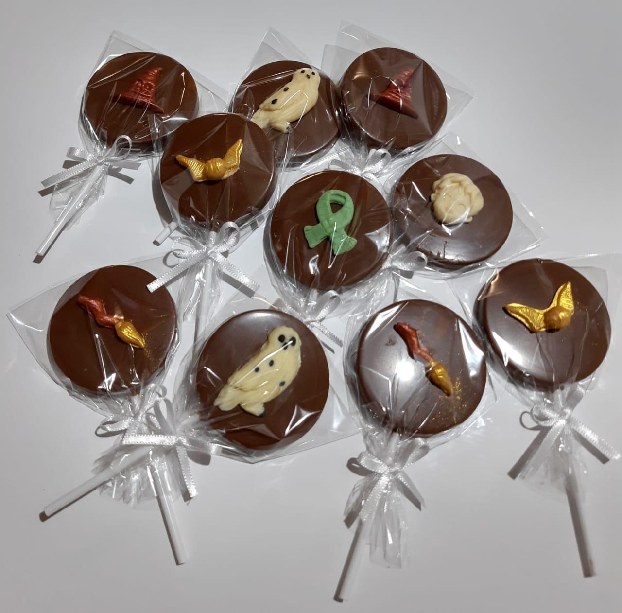 Pirulito de Chocolate Belga  - Decorado Harry Potter