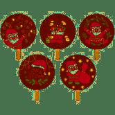 Pirulito Natal - 5 unidades