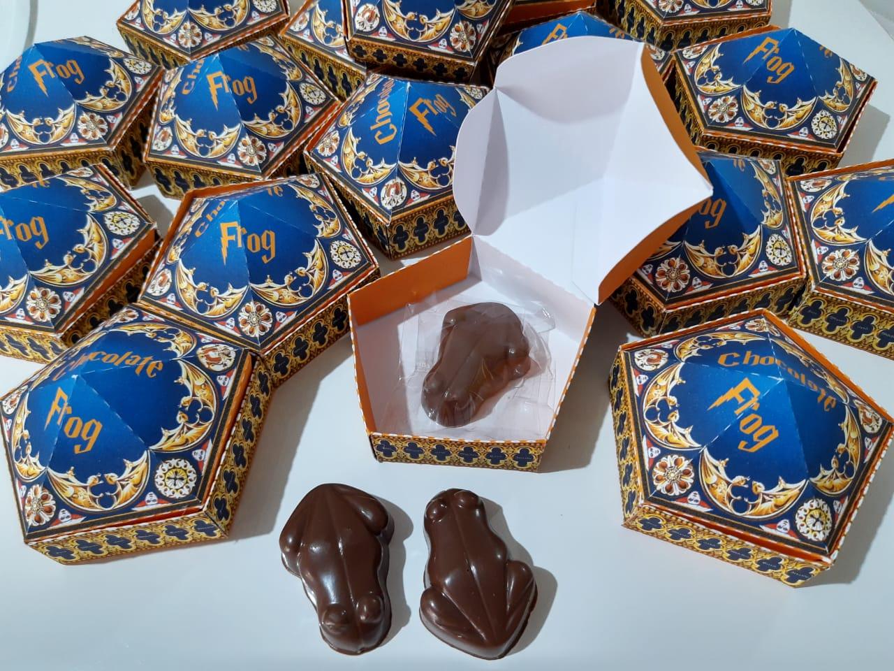 Sapo de Chocolate com caixa ( Sapo gordinho )