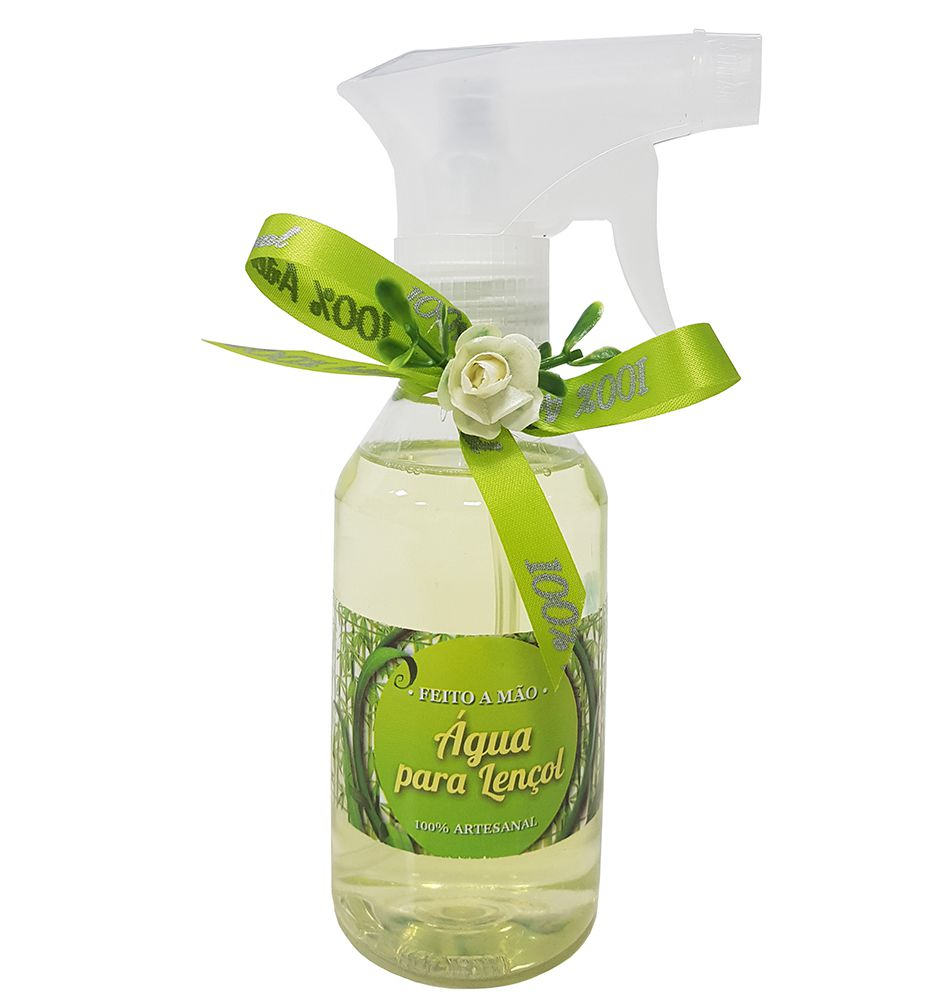 Água Perfumada de Lençol - Bamboo - 100% Artesanal - 200 ml - Blanco Decorações