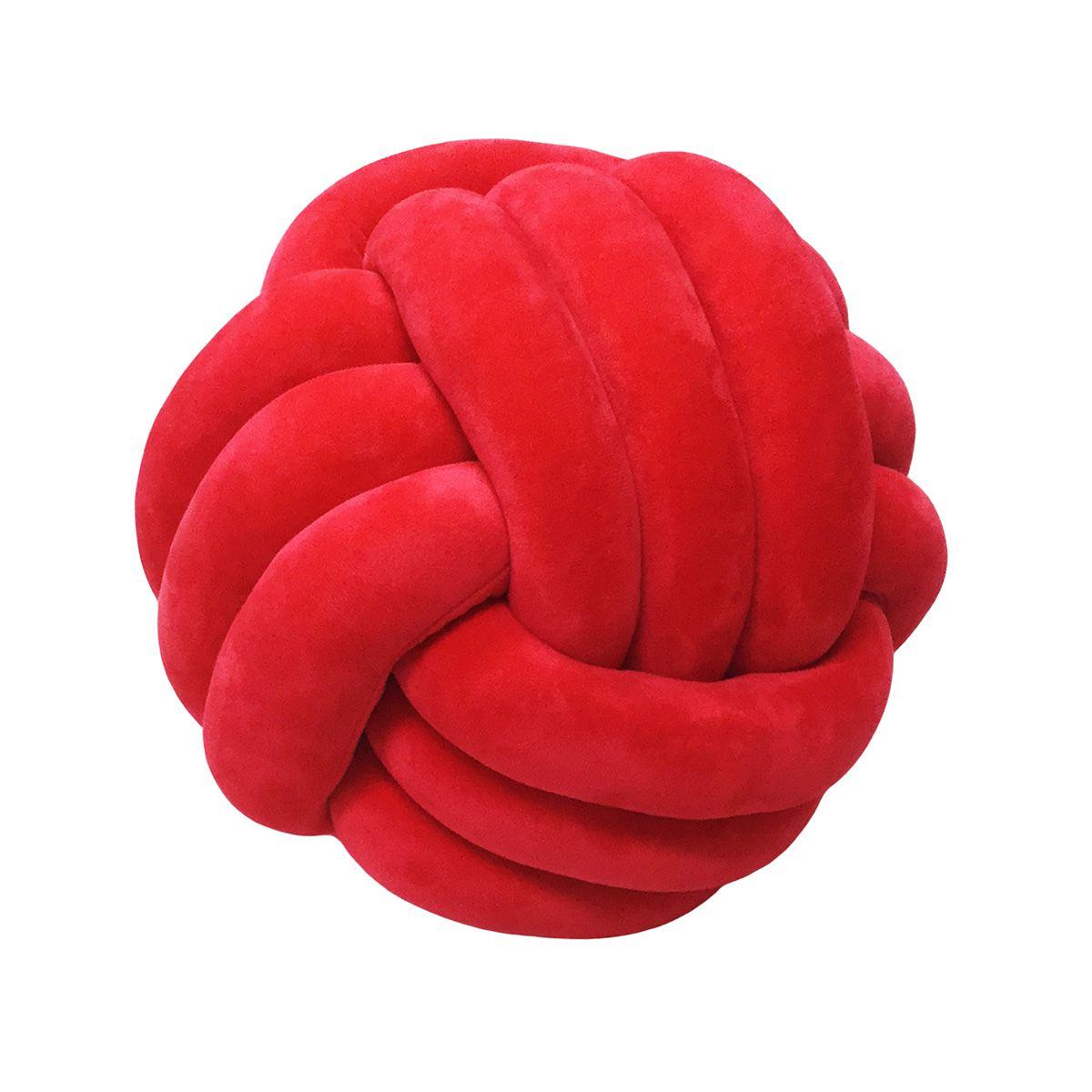 Almofada Nó - Vermelho - 27cm - Niazitex