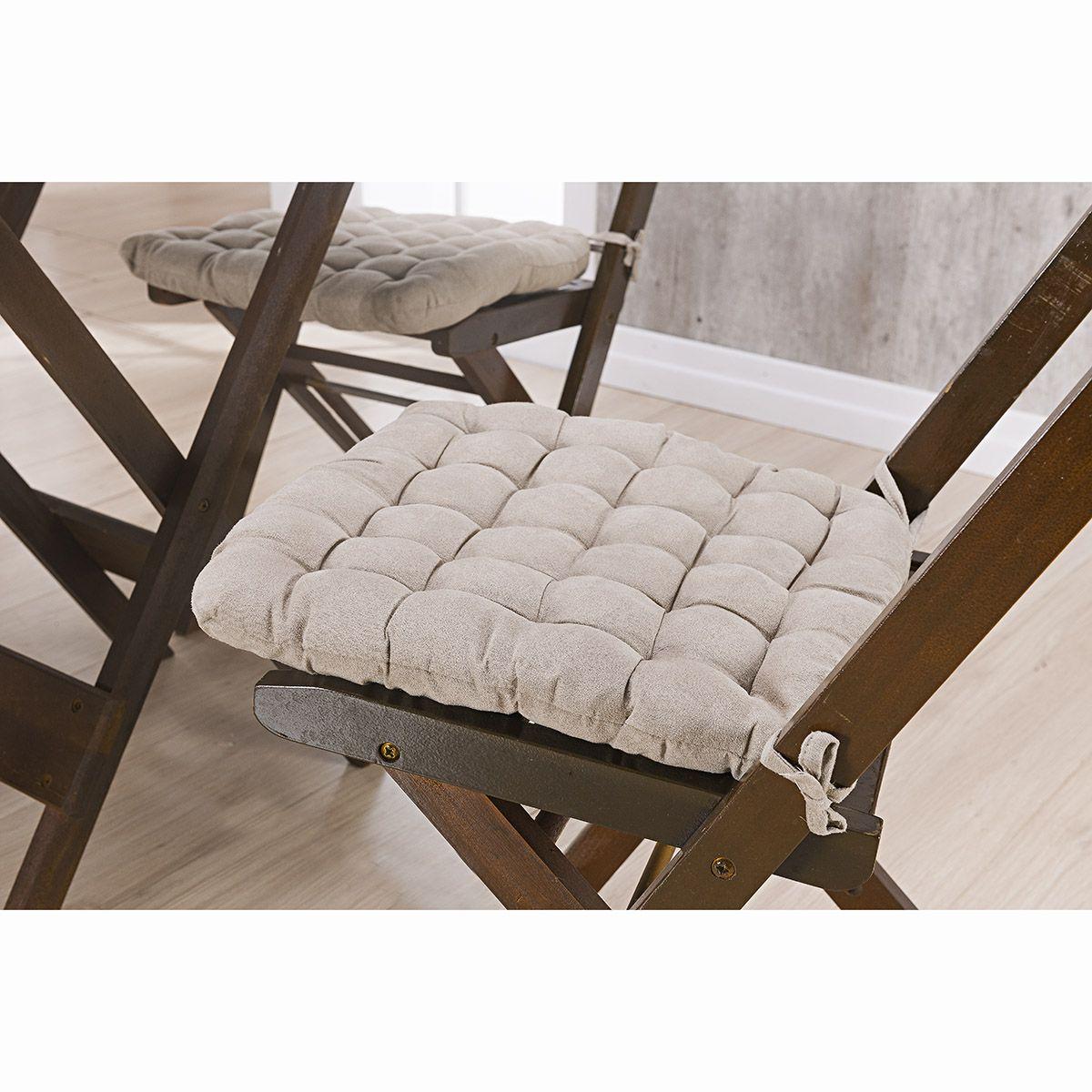 Assento P/ Cadeira - Futton - Kalamar - 40cm x 40cm - Areia - Niazitex