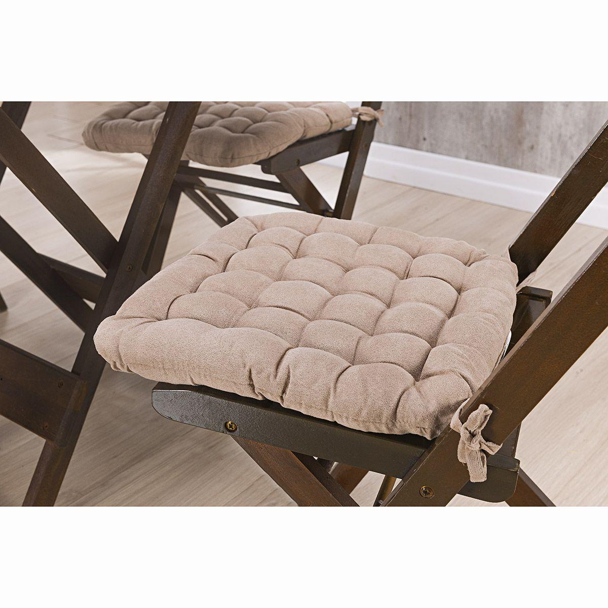 Assento P/ Cadeira - Futton - Kalamar - 40cm x 40cm - Bege - Niazitex