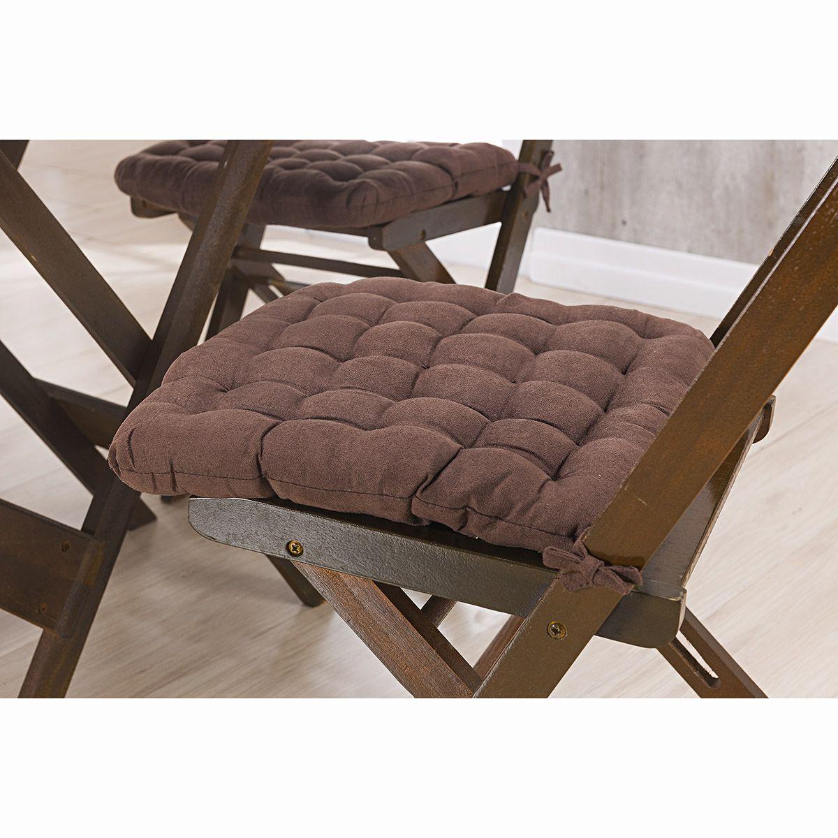 Assento P/ Cadeira - Futton - Kalamar - 40cm x 40cm - Chocolate - Niazitex