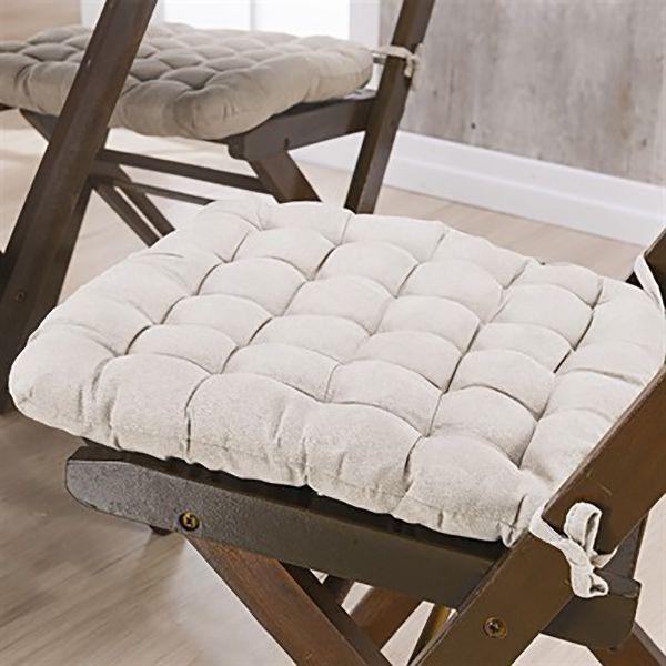 Assento P/ Cadeira - Futton - Kalamar - 40cm x 40cm - Marfim - Niazitex